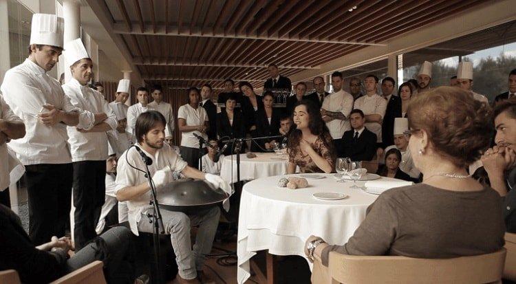 Música en directo como ejemplo de gestión musical en restaurantes