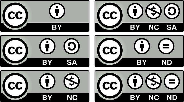 Las licencias Creative Commons son otra forma de la música libre de derechos